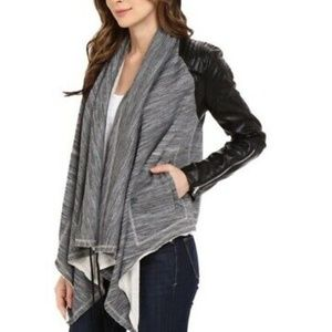 BLANKNYC Dating and Waiting Drape Front Jacket S